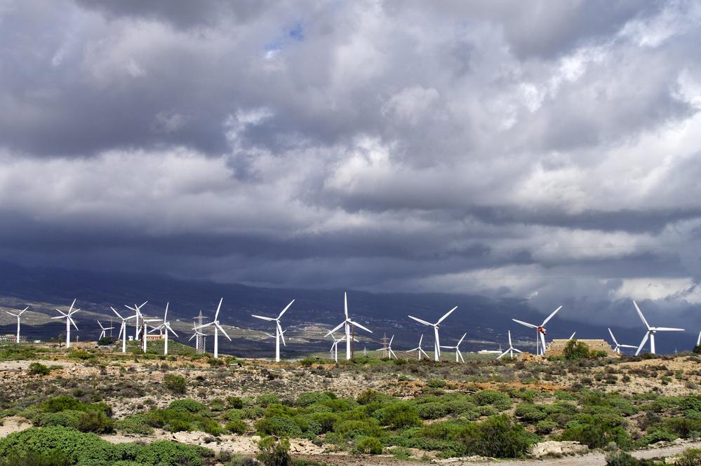 Un parque eólico: ¿las tarifas de luz en Canarias han puesto rumbo hacia la energía renovable?