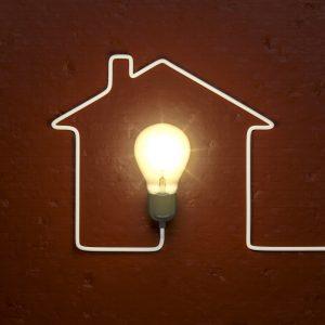 Representación de la instalación de la luz en un hogar.
